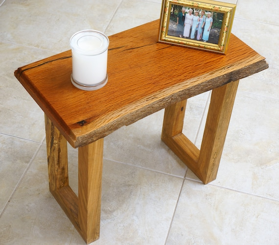 Coffee Table (C) Sheoak Table top with natural edge and contrasting Marri legs