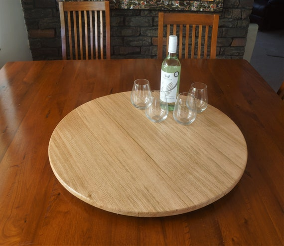 Lazy Susan in Tasmanian Oak. 700mm Diameter.