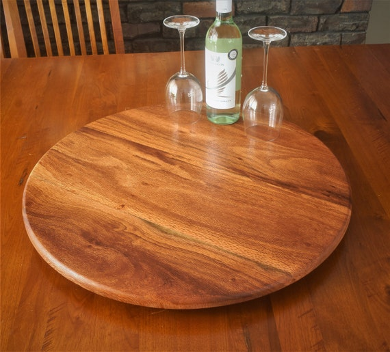 Lazy Susan in  Woody Pear Timber. 600mm Diameter.