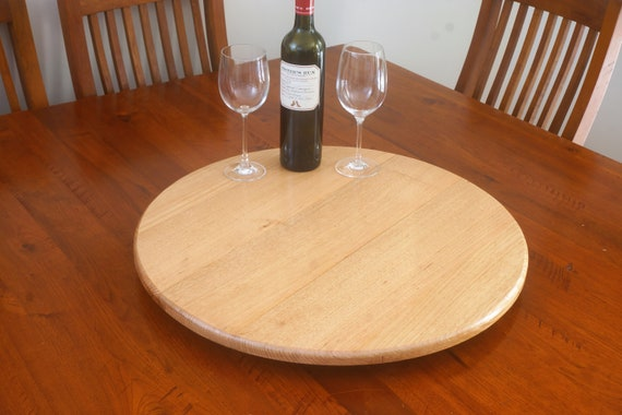 Lazy Susan in  Victorian Ash timber. 600mm Diameter.