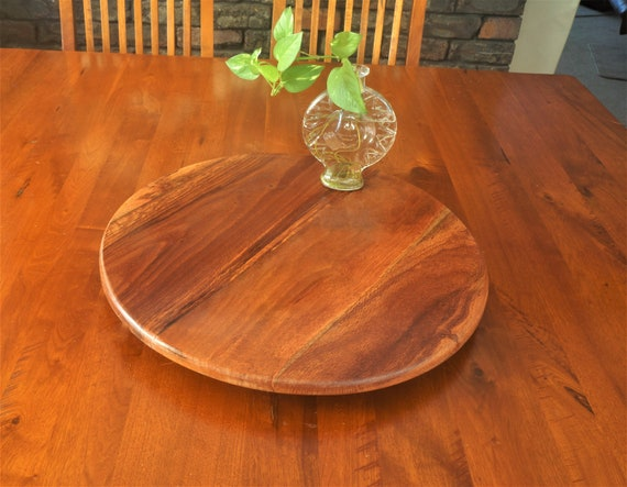 Lazy Susan in  Woody Pear Timber. 500mm Diameter.