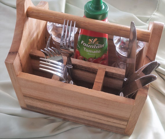 Cutlery Caddy Marri Timber (M2)