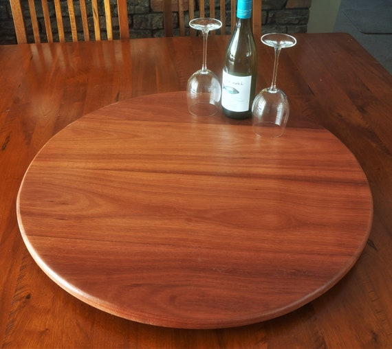 Lazy Susan in  Western Australian Jarrah Timber. 700mm Diameter.