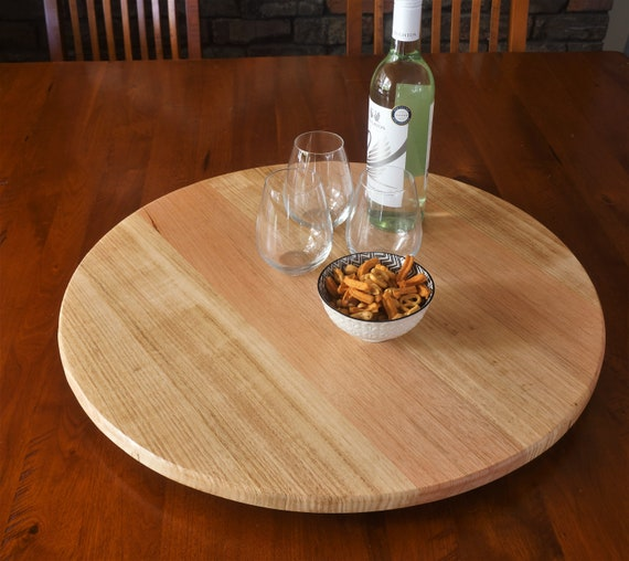 Lazy Susan in Tasmanian Oak. 600mm Diameter.
