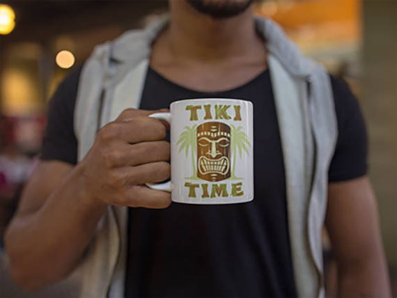b3383b41cca0e Tiki Time Luau Party Funny hawaiian mug hawaiian gift tiki