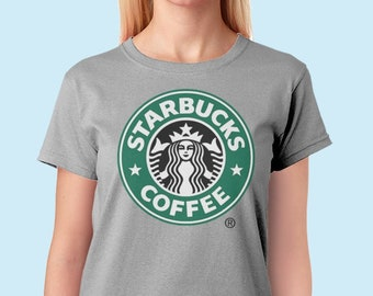 a2d0e5ba2d0af starbucks shirt starbucks Tshirt Starbucks Tee Starbucks coffee t shirt  Starbucks Logo Vintage Starbucks coffee women shirt Womens T-shirt
