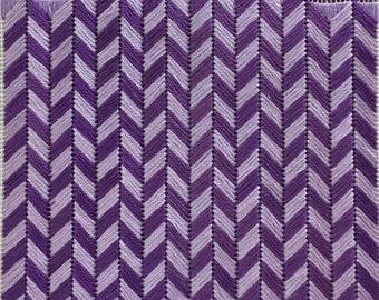 Small monochrome needlepoint kit. Maze Purple