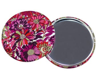 75mm Liberty Willow pink Pocket mirror * limited EDITION *.