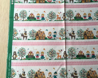 "Japanese cotton ""Little Prince and Princess"" 50 x 110 cm"