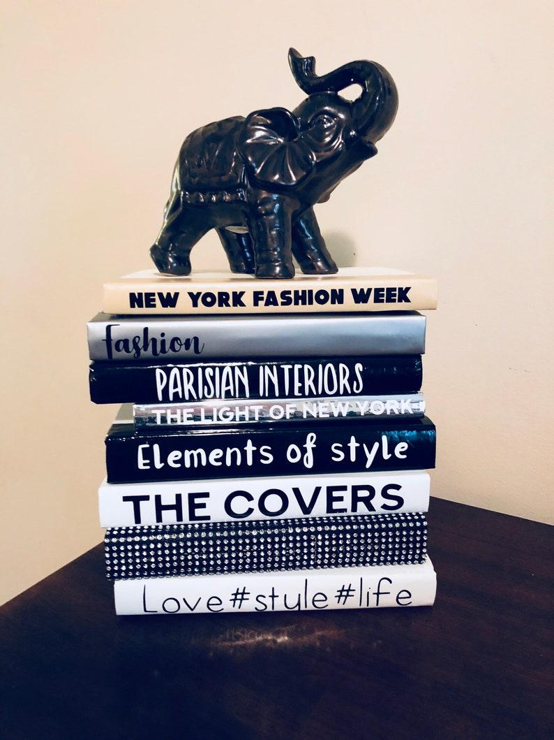 Fashion Design Decorative Coffee Table Books Unique Handmade Etsy