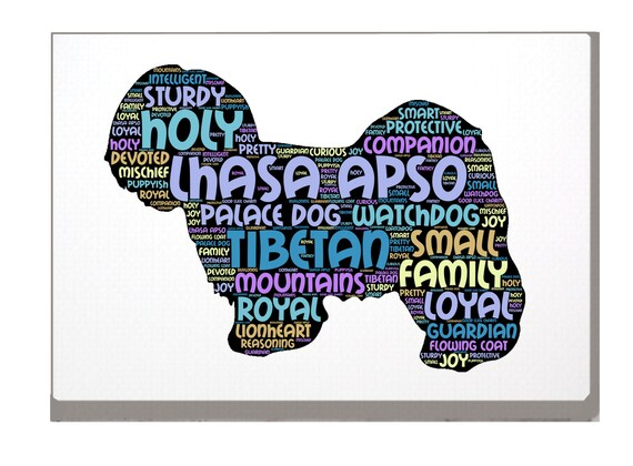 LHASA APSO DOG PERSONALISED SHOULDER// HAND BAG *Choice of 2 colours* GIFT !