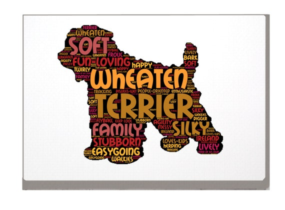 Norfolk Terrier Word Art Custom Print Personalized Option your Choice of Dog Name A4 or A3 Norfolk Terrier Birthday Xmas Mothers Day Gift