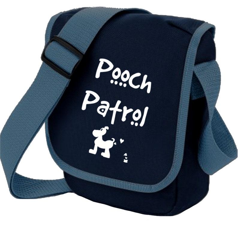 Dog Cat Pet Lover Bag Pooch Patrol Mini Messenger Bags Zipped pocket Choice of Colours Dog Lovers Shoulder Bag  Dog Lover Birthday Xmas Gift