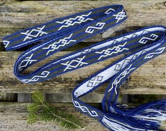 Tablet weaving - Mammen - Viking belt wool