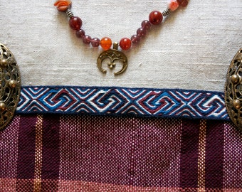 Tablet woven apron trim - Snartemo, apron dress trim - pre-Viking - Viking Age