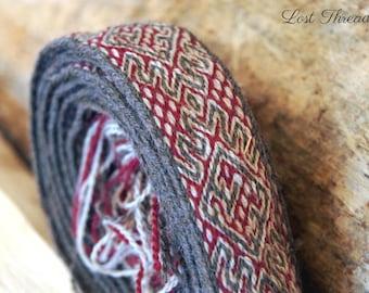 Medieval trim - tabet woven belt - dragon / animal motif - late medieval girdle - renaissance / medieval belt - made to order