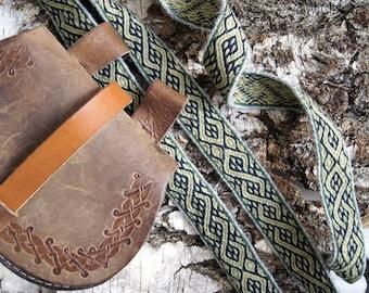 Tablet woven belt - custom Viking trim - Viking reenactment - viking belt made to order