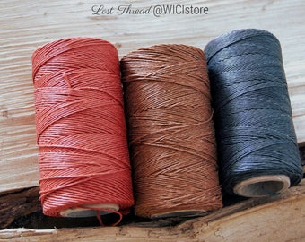 3 spools of linen thread, each 200 m/218 yd (~105g) - natural, durable, 100% linen yarn, 1 mm thick, made in EU