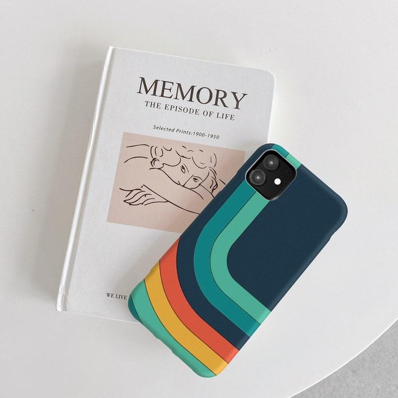 Retro Rainbow for Samsung S21 case Galaxy S20 fe for Samsung Note 20 Galaxy J6 for Samsung A10 for Samsung S10 5G Galaxy A10e Galaxy cp436