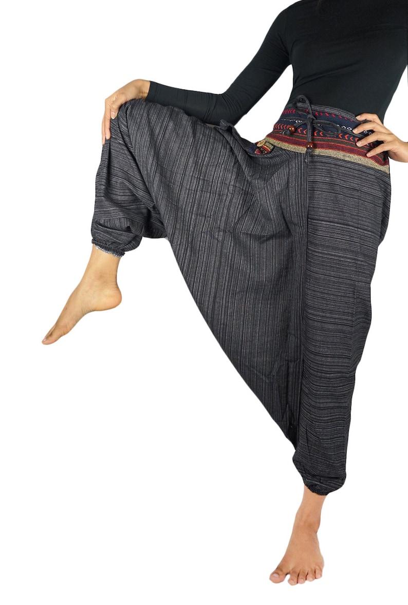 Boho Pants Womens Harem Pants Hippie Pants Festival Pants Tribal Pants Cotton Aladdin Drop Crotch Wide Leg Hippie Pants Harem Pants