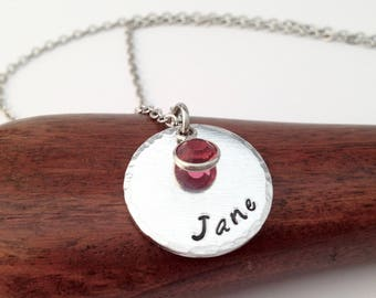 Personalised Name Necklace, Birthstone Jewelry, Name Jewelry, Daughter Necklace, Daughter Gift, Gift for Mom, Gift For Nana,Mothers day gift