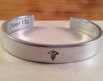 Medical Alert Bracelet, Personalized Bracelet, Medical Cuff Bracelet, Medical Bracelet, Epilepsy, Allergy, Diabetic Alert