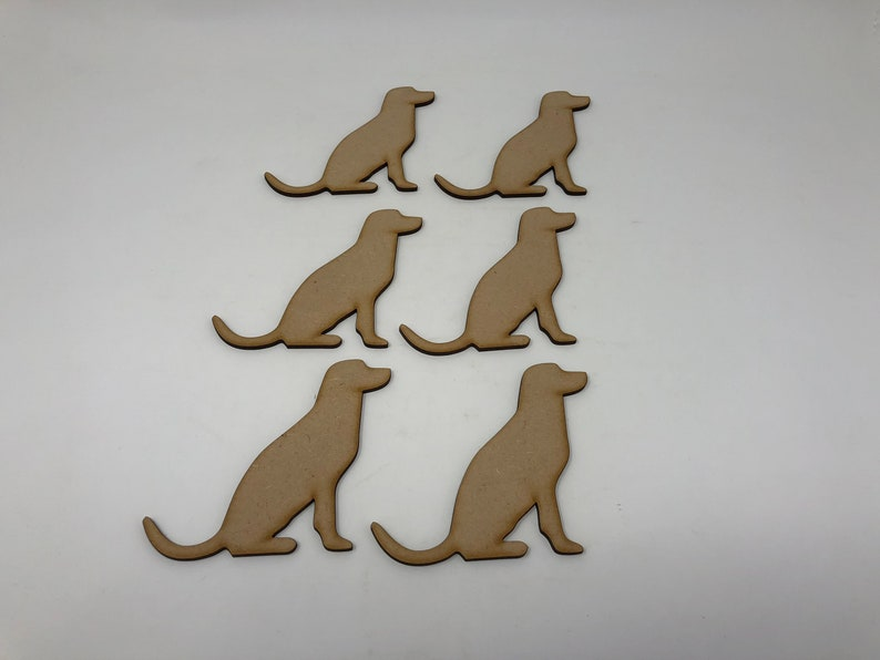 Wooden MDF Paw Print 30mm Cats Dogs