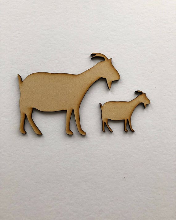 Goat MDF Laser Cut Craft Blanks in Various Sizes