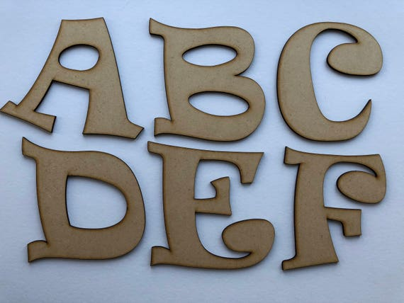 15cm 20 18mm Thick Free Standing MDF Wood Letters /& Numbers Height  8,10cm,12cm