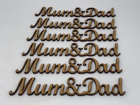 Daddy gift idea/'s Embellishment Daddy MDF Craft Wording Daddy words