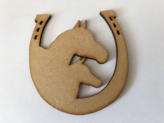 3mm MDF Laser Cut Craft Blank Scrapbook Card Topper Horse