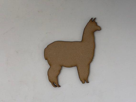Set of 3 dark plywood Llama shapes decoration 15cm tall to paint /& embellish