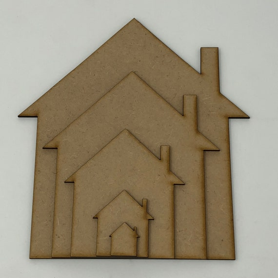 Wooden House Craft Shape House Shapes For Crafting New Home Gift Ideas Mdf House Shapes