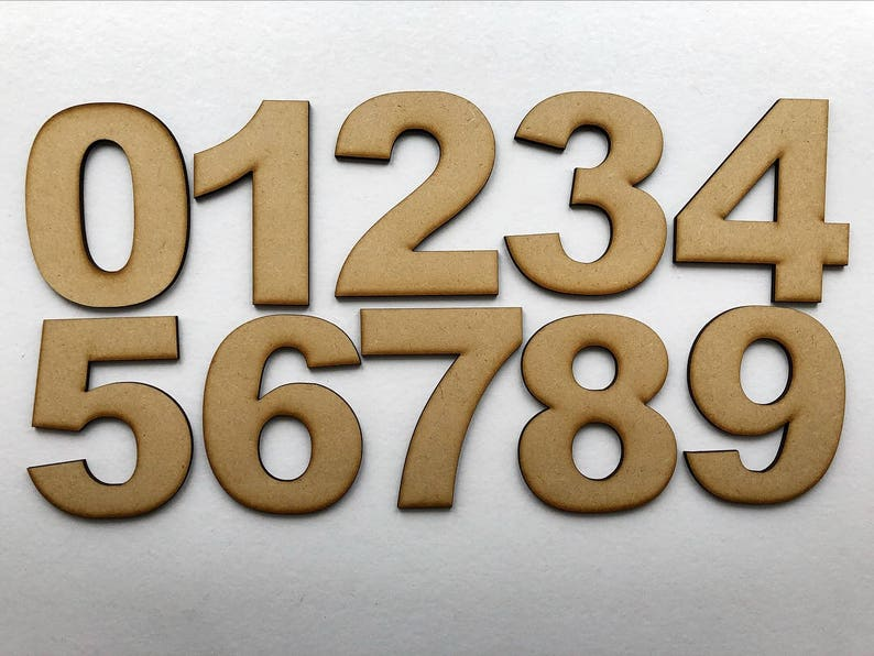 Arial Font MDF Numbers,Free Delivery, 0,1,2,3,4,5,6,7,8,9 - 5cm, 10cm,  15cm, 20cm and 30cm