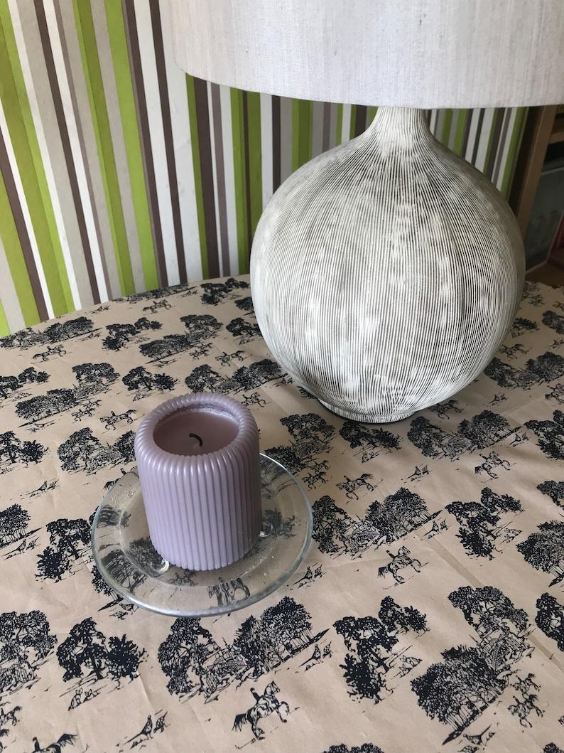 Vintage beige fine cotton tablecloth