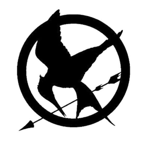 Hunger Games Mockingjay Symbol Vinyl Wall Decal Die Cut Etsy