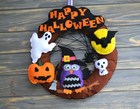 Halloween Wreaths For Front Door Nightmare Before Christmas Etsy