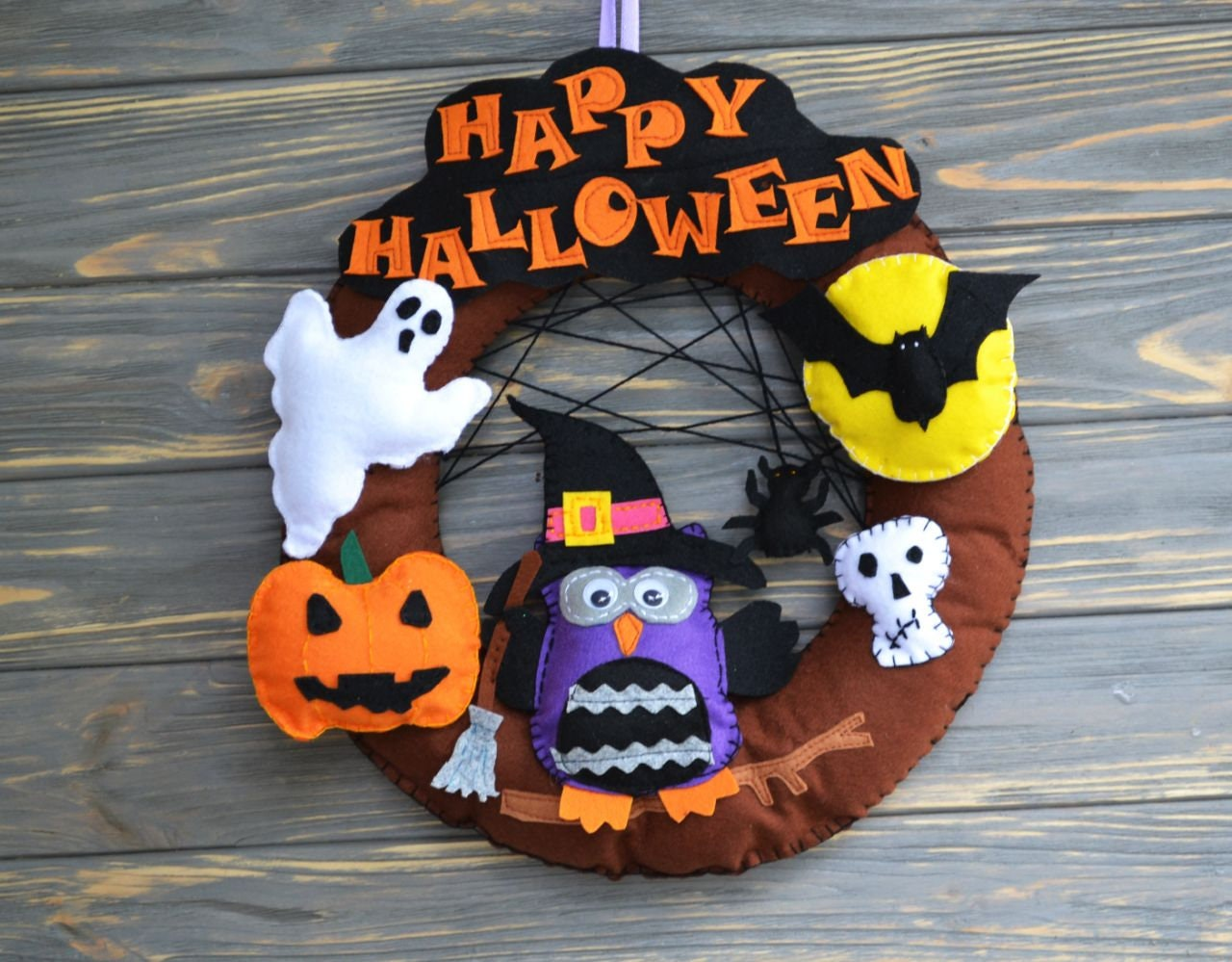 Halloween Wreaths for front door Nightmare before Christmas Halloween Fall decor Halloween door decor Haunting Home Decor