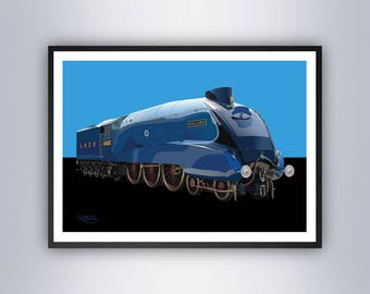 Mallard Steam Train Locomotive Poster Art Print