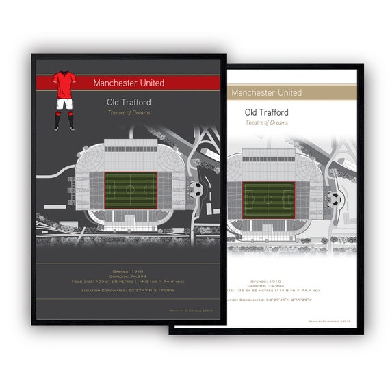Maxi Size 36 x 24 Inch Manchester United Old Trafford Stretford End Poster New