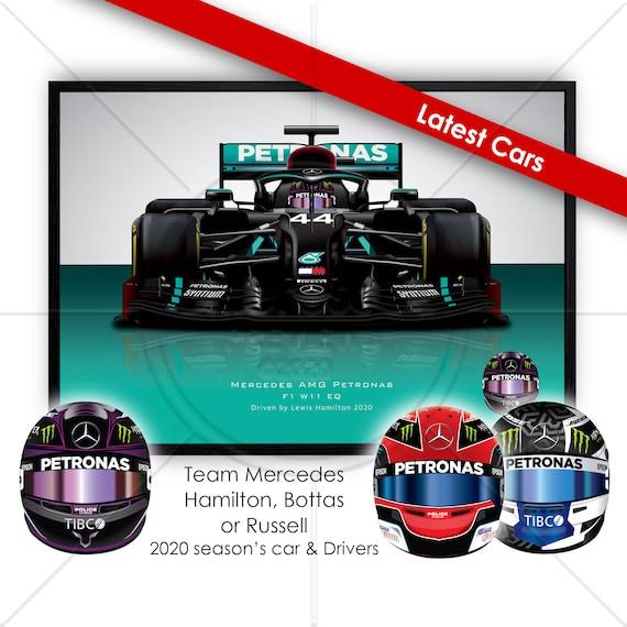 F1 Mercedes Drivers Lewis Hamilton Valtteri Bottas George Etsy
