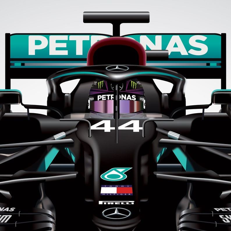Formula 1 Mercedes Team Drivers 2020 F1 Lewis Hamilton | Etsy
