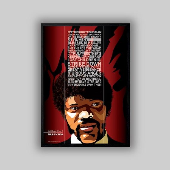 Pulp Fiction Movie Wall Art Poster Illustration   Etsy