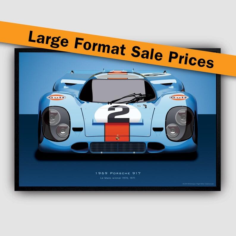 Porsche 917 Gulf 1970 Le Mans 24hr Race Motor Sport Racing Classic Car Art Print