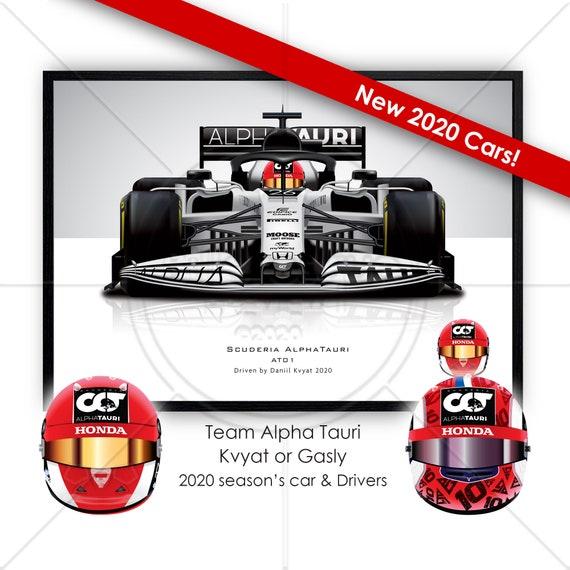 Daniil Kyvat 2020 Formula 1 Helmet Print