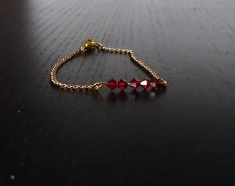 Bracelet chain and Crystal beads