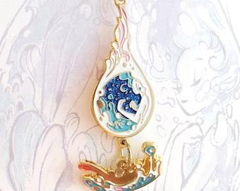 Drop Of Ocean- Glitter Keychain