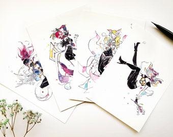 K/DA Popstars A6 prints