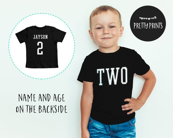Personalized Boys 2nd Birthday Outfit Shirts For