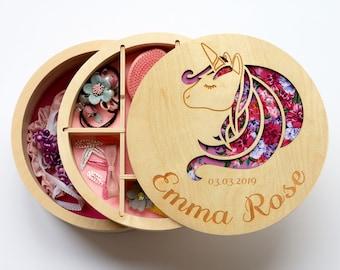 Bow holder, Hair Clip Holder, Unicorn bow holder, Unicorn nursery, Bow holder for girls, Toddler gift, Jewellry box, Gift for girl, Wood box